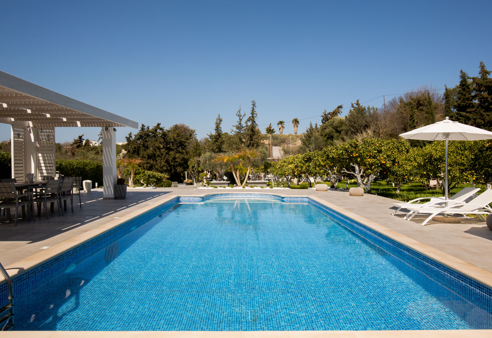 Antigone estate rhodes greece a genuine experience in for Luxury pool area